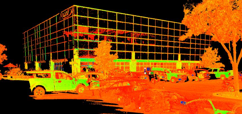 terrestrial LiDar scan of office