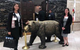 ACEC Legislative Visit Day California Bear Statue
