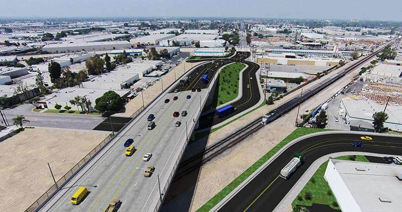 LA Metro grade separation