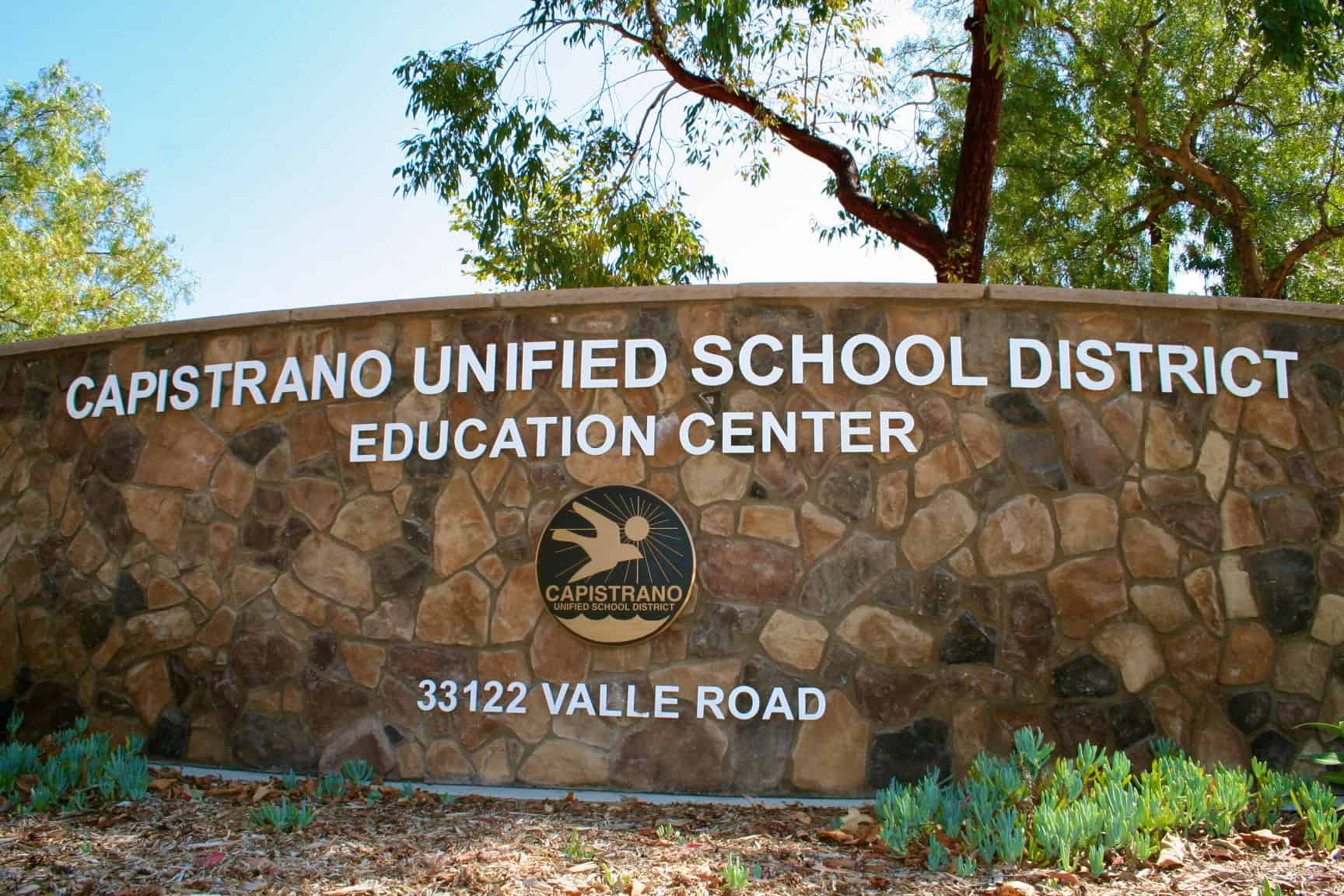 Capistrano Unified School District building sign