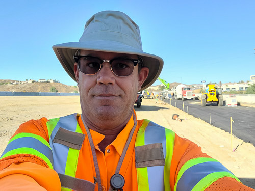 Bruce Warny working on a project in San Diego